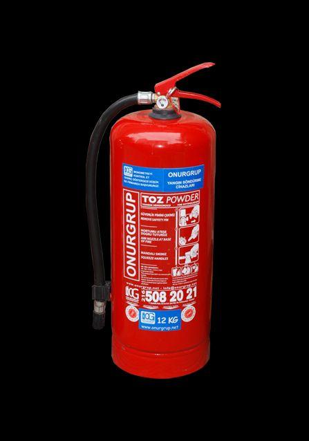 Yangın söndürme tüpü 6 kg (kuru kimyevi tozlu)